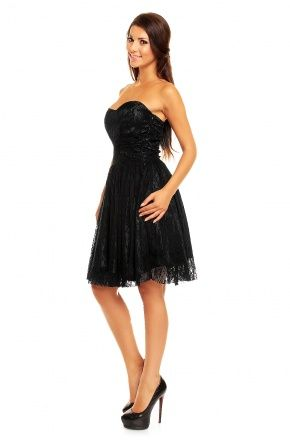 Koronkowa sukienka z gorsetem KM142