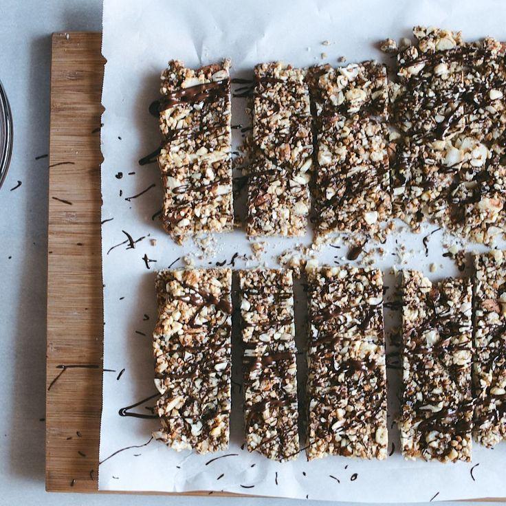 Salted Dark Chocolate Nut Bars recipe on Food52