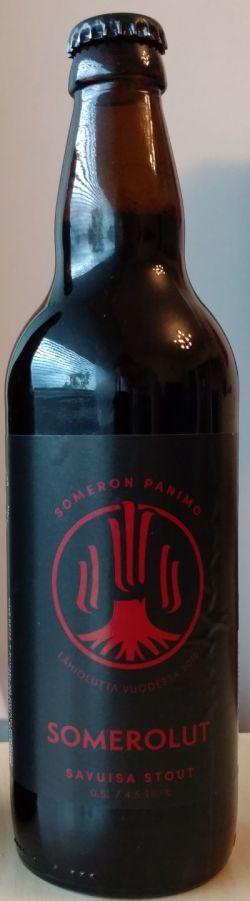 """Someron Panimo - """"UUDISTETTU""""  Somerolut Savuisa Stout    (Oatmeal/NEW CONSISTENCY) 4,5% pullo *** (10.9.2017 KOTONA)"""