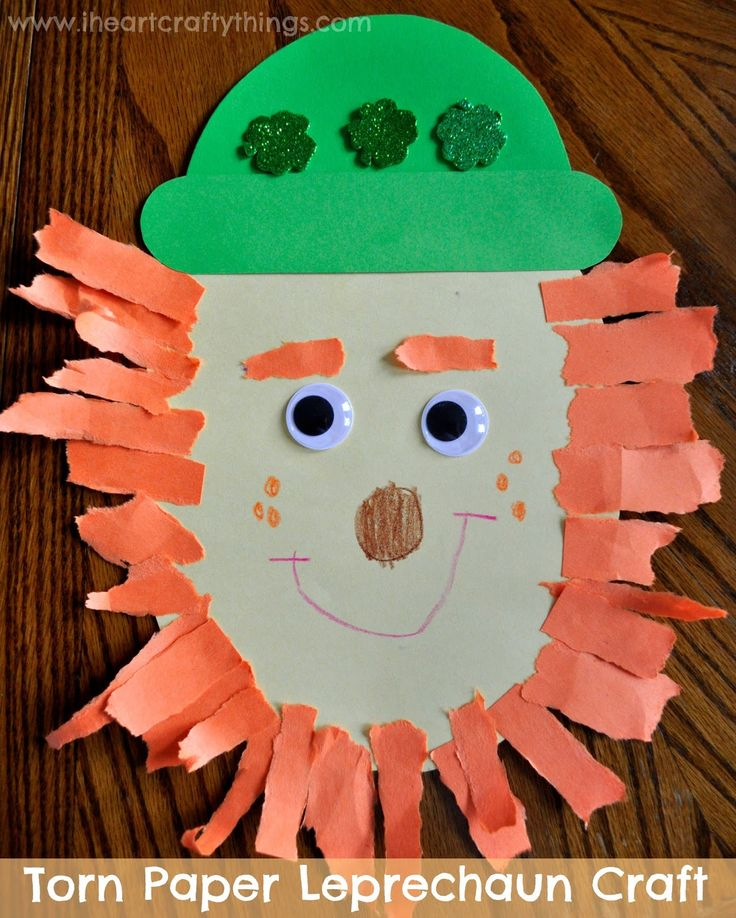 Leprechaun Craft for kids for St Patrick's Day from I Heart Crafty Things