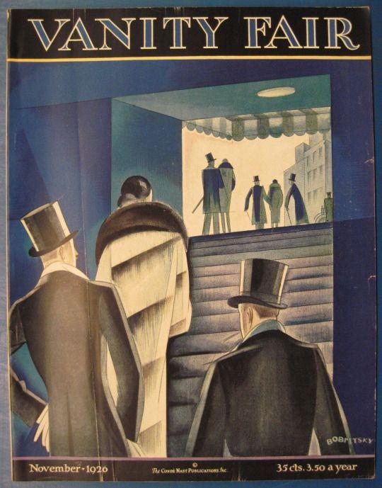 "November, 1926 cover of ""Vanity Fair""."