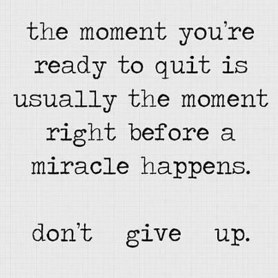 Both times I became pregnant on my own, even though I miscarried, I'd quit trying and thinking about it. There's so much truth to this! JT