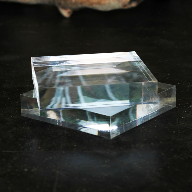 clear perspex blocks - highlight colour/patterns - the perfect base to feature flowers on