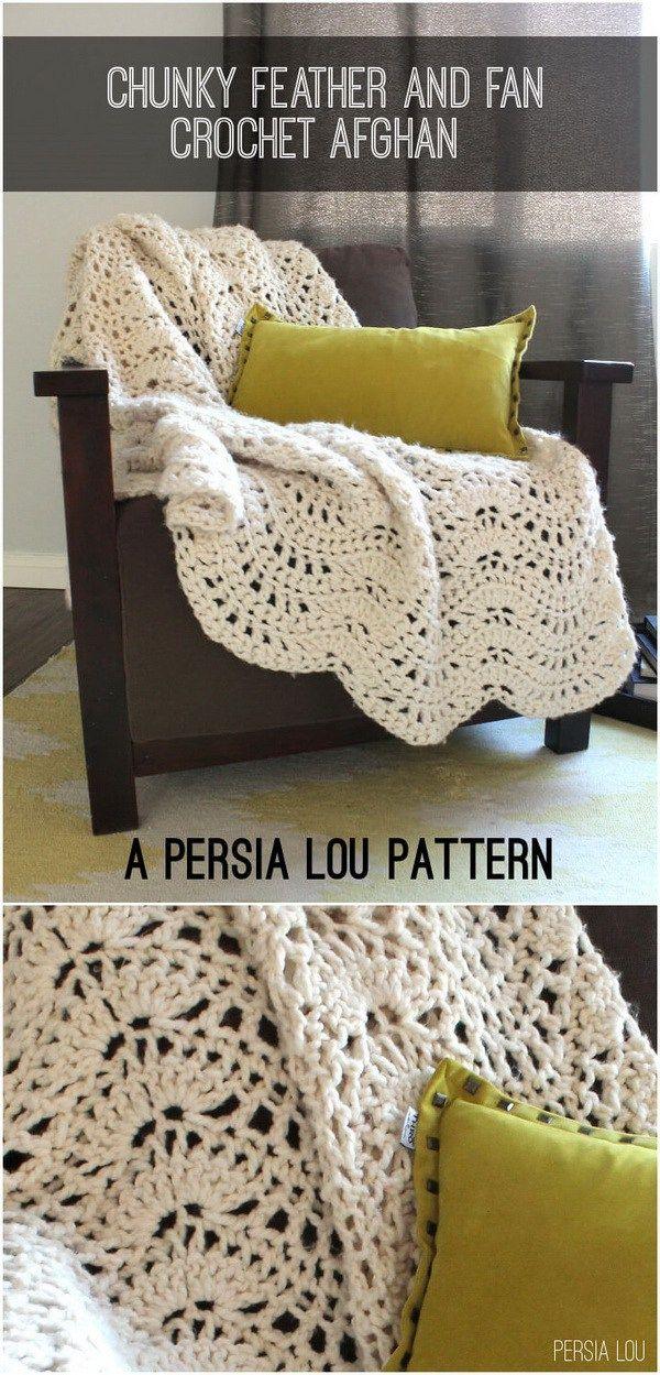 Perfecto Crochet Chatarra Patrón Afghan Festooning - Manta de Tejer ...