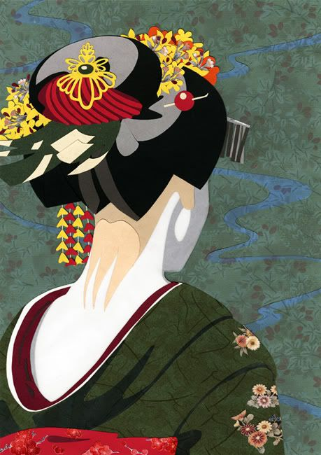memoirs of a geisha artwork by illustrator and designer ziyue chen