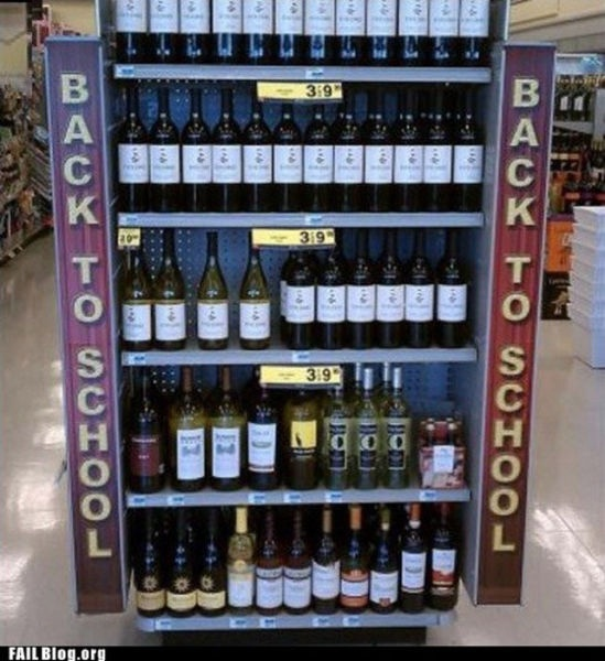 Check out this funny photo of some wine that's advertised as a Back to School product, on NickMom.com!