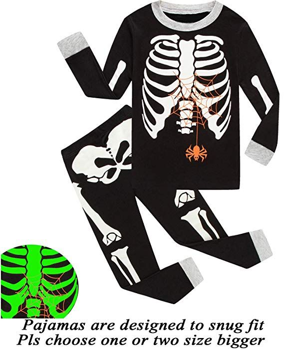 b7121e484039 Little bety 100% Cotton Boys Girls Halloween Pajamas Toddler Pjs ...