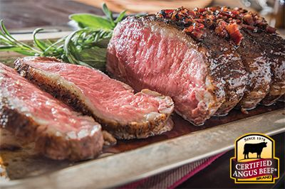 Strip Roast with Maple Bourbon Bacon Glaze recipe provided by the Certified Angus Beef® brand.