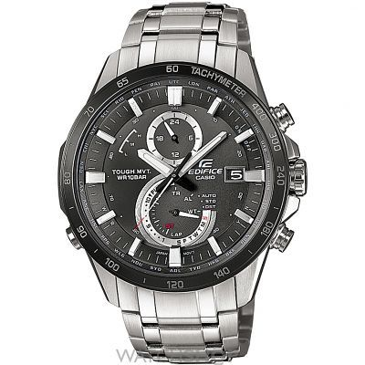 Mens Casio Premium Edifice Alarm Chronograph Solar Powered Watch EQW-A1400DB-1AER