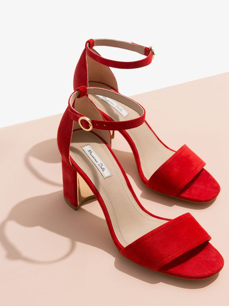 Autumn winter 2016 Women´s RED SUEDE SANDALS at Massimo Dutti for 2795. Effortless elegance!
