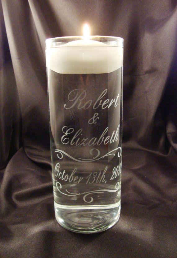 Wedding Unity Candle Vase  Personalized by winstonglassworks, $28.95