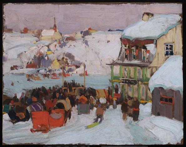 Gagnon, Clarence - Course de chevaux en hiver - AGO Art Gallery of Ontario, Toronto