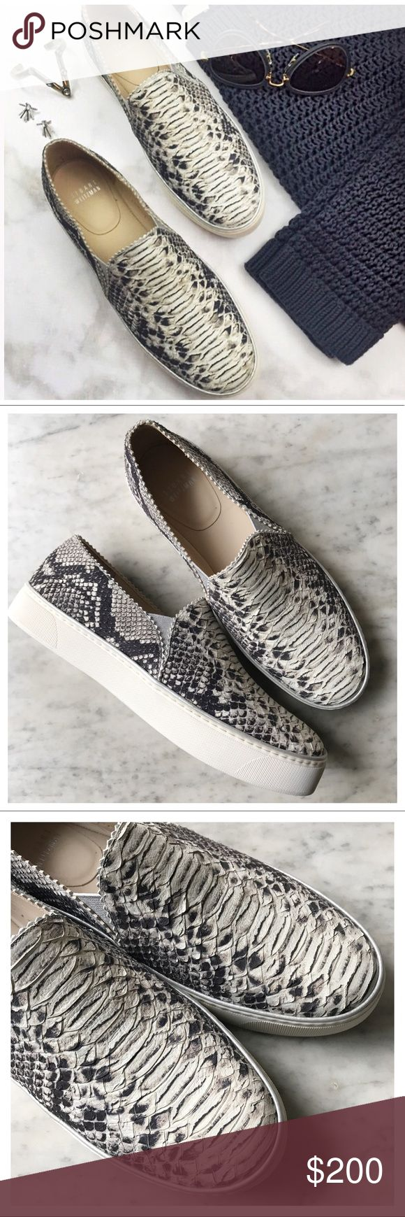 •Stuart Weitzman• Nuggets Snake Print Skate Shoes New never worn!! Please feel free to ask any questions or make an offer! All prices are negotiable! Stuart Weitzman Shoes