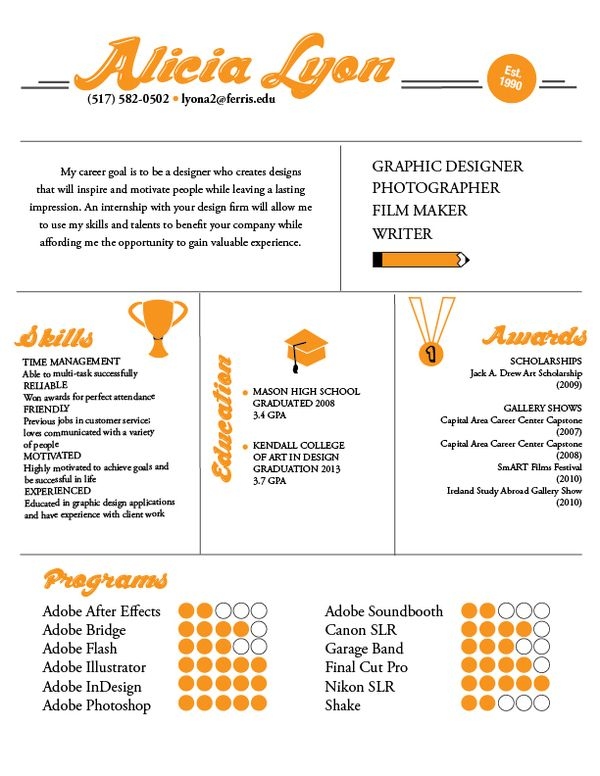 29 best Infographic Resumes images on Pinterest Creative - graphic design skills resume