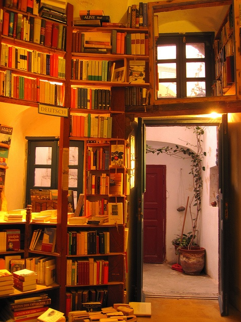 Atlantis Books, Oia, Santorini, Greece - as if the beauty and food of the place weren't enough.... #literary #books #travel