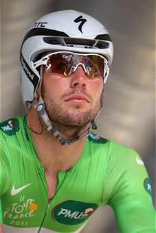 TdF 2011: Mark Cavendish in the green jersey
