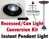 Turn Recessed Light into a Pendant - Conversion Kit - Can Light to Hanging Chandelier Lantern