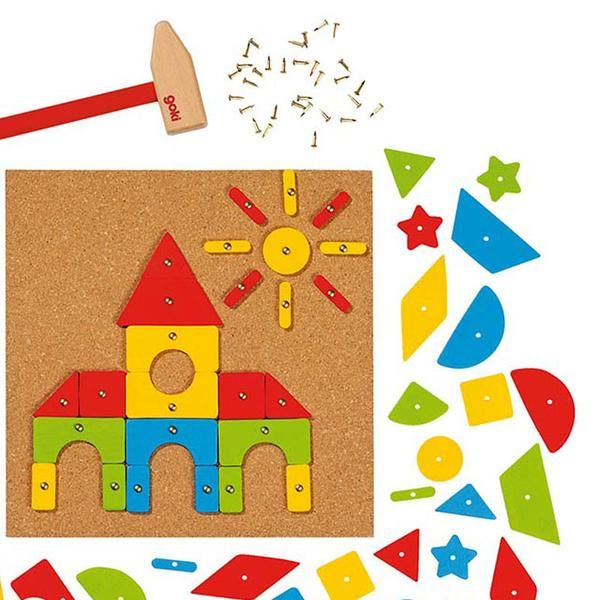 Kreativt legetøj - eksempelvis Goki hammermosaik