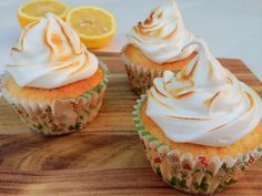 Citron cupcakes med marengs fra Madling.dk