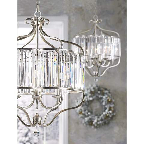 "Soft Silver 6-Light 22"" Wide Crystal Pendant Light - #V6208 