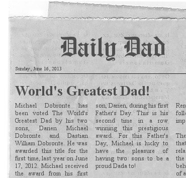 father's day newspaper project
