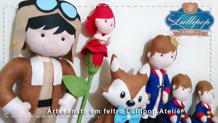 Turminha Pequeno Principe - Artesanato em feltro Lullipop Ateliê. By Elaine Cristina Braga.