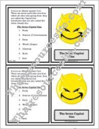 7 Capital Sins Learning Card