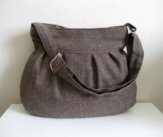 Handmade felted wool bag. This is amazing.
