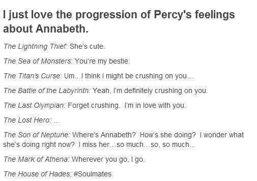 Err, no, doesn't Annabeth say somewhere in Heroes of Olympus that she was crushing on Percy since she was 12! Ok, so I may be fangirling