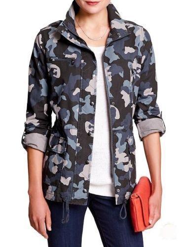 NWT Banana Republic Women's Camo Military Jacket MSRP $99 Sizes S, M, L  #BananaRepublic #Military