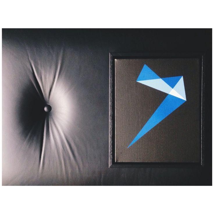 "8x10"" acrylic and aerosol on canvas. Professionally shadowbox framing."