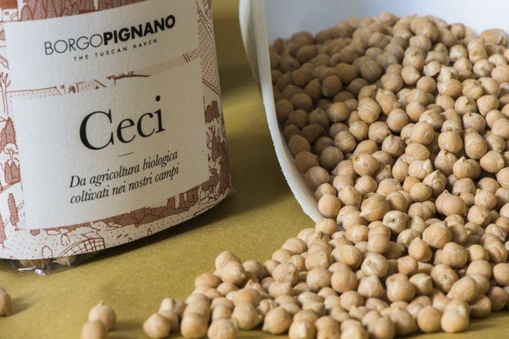 Chickpeas at Borgo Pignano, Volterra, Tuscany, Italy