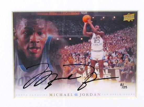 Michael Jordan UNC Limited Edition Framed Autographed 5x7 Collection - 11 Autographs! (UDA) | DA Card World
