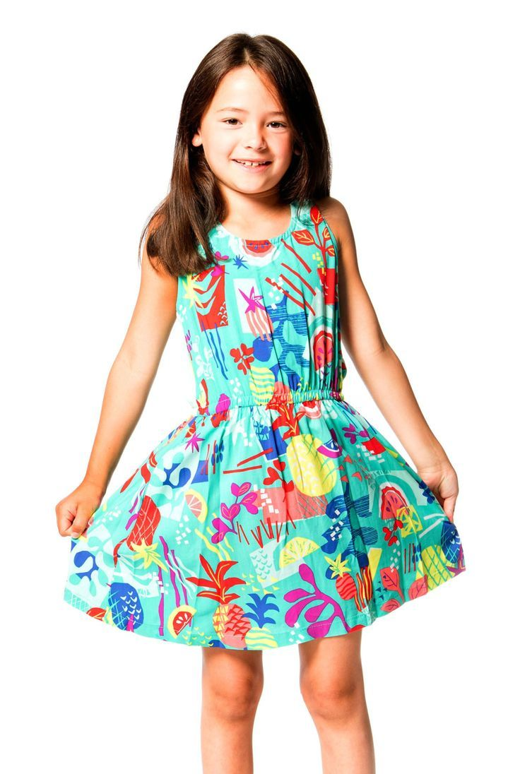 Twisted back straps lend unique distinction to the Cold Press Fashion Printed Viscose Dress. Made from lightweight viscose fabric with a colorful fruit print, this little dress features a sleeveless silhouette with a scoop neckline, a solid jersey back with a small keyhole Shop now at deuxpardeux.com #kidsstyle #dress #littlegirl #kidsfashion #littleboy #kidswear Follow our Pinterest page at @deuxpardeuxKIDS