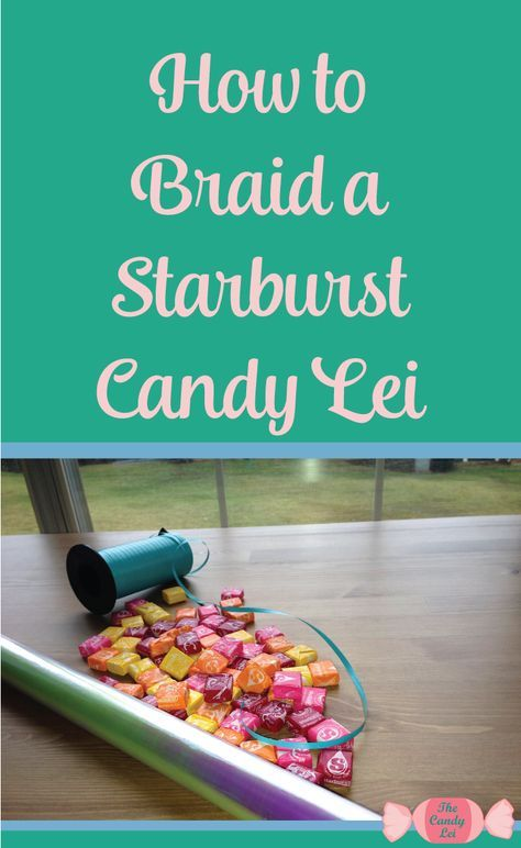 This starburst candy lei is awesome. I never thought of making a candy lei out of Starbursts. I'm definitely going to be making one of these for my brothers graduation.