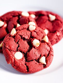 Cooking Classy: Red Velvet White Chocolate Chip Cookies: Velvet White, Chocolates Chips Cookies, Cooking Classy, Recipes, White Chocolate Chips, Red Velvet Cookies, White Chocolates Chips, Redvelvet, Chocolate Chip Cookies