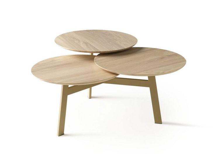 Tavolino in legno da salotto NINFEA by LEOLUX | design Stephan Veit
