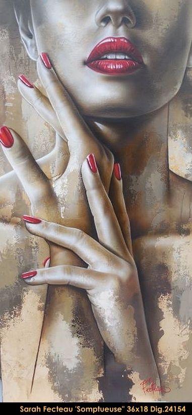 Acrylic painting by Sarah Fecteau #sarahfecteau #art #canadianartist #quebecartist #originalpainting #hyperrealism #contemporaryart #sepia #galerieiris #multiartltee