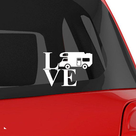 Vinyl Decal Rv Class C Camper Silhouette by TheChaoticMindStudio