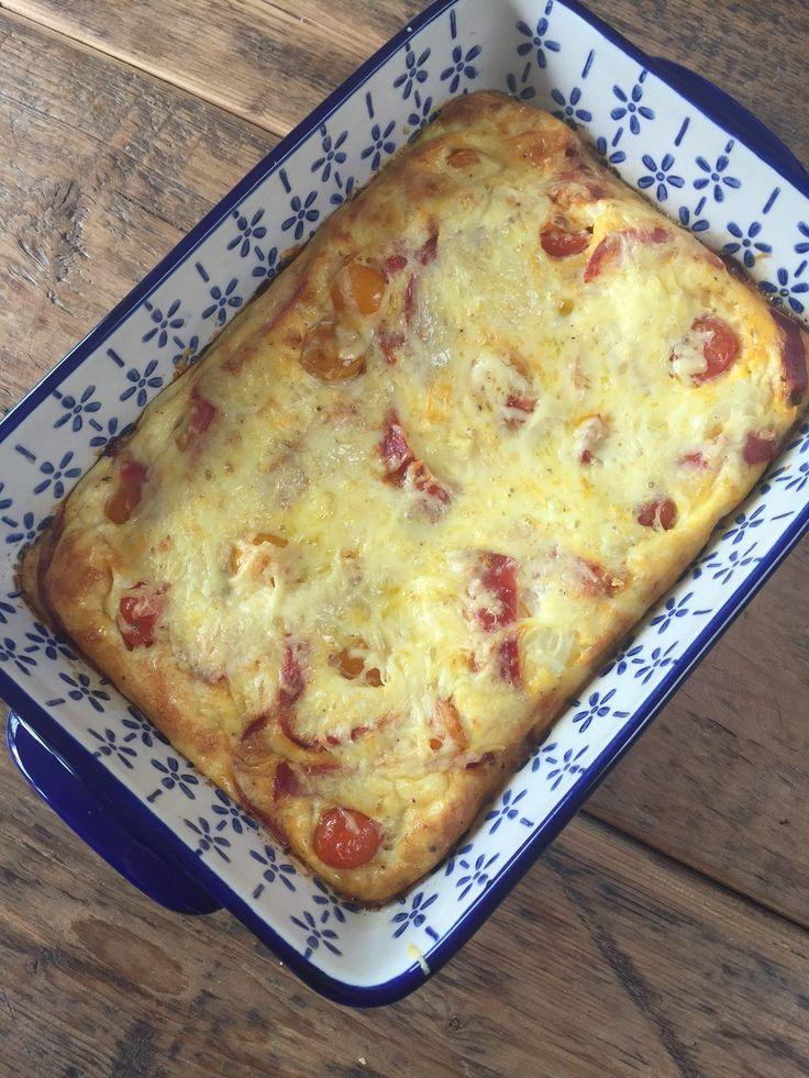 Spaanse frittata met chorizo en tomaat recept van foodblog Foodinista