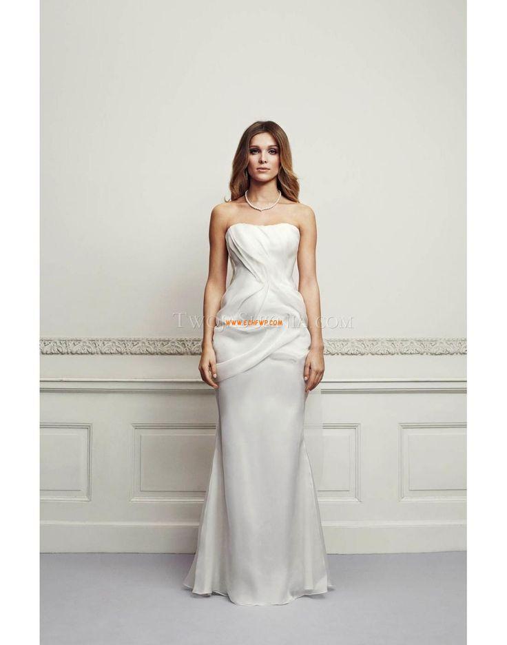 Bez ramiączek Chic & Modern Bez rękawów Suknie ślubne 2014