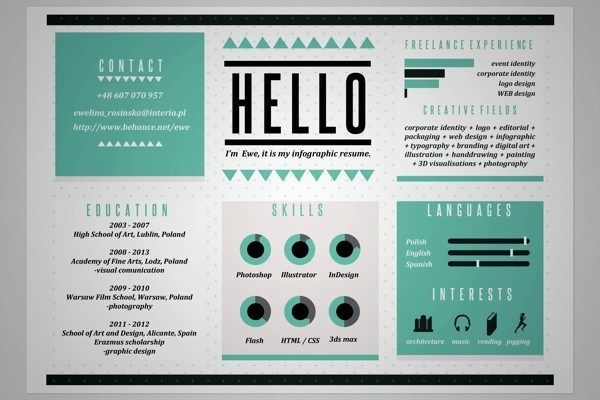 e329330f17a7f8a9380bdd4182a8224f 20 Cool Resume & CV Designs