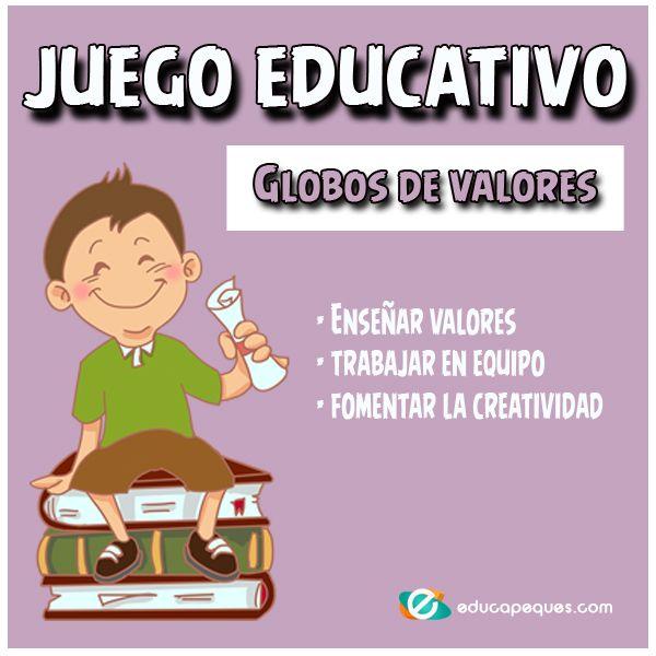 El Globo De Los Valores Juego De Valores Para Niños Juegos De Valores Trabajo En Equipo Niños Juegos De Aprendizaje