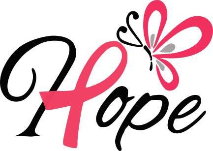 Hope (pink ribbon) - SVG FILE