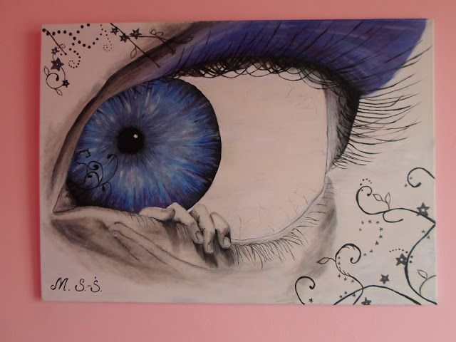 DIY - Zrób to sam, Handmade, Upcykling, Moda, Dekoracje, Inspiracje: Mój pierwszy obraz farbami olejnymi na płótnie OKO...