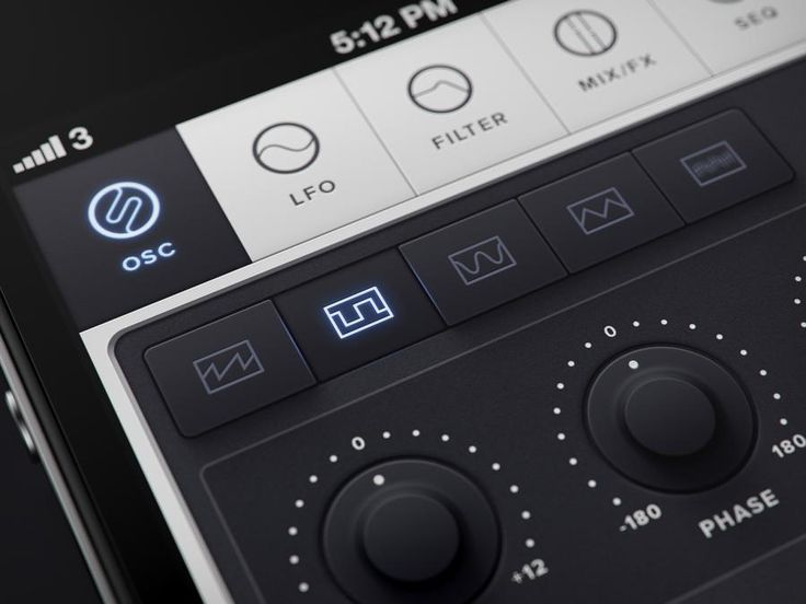 iOS/iPhone synth app waveforms