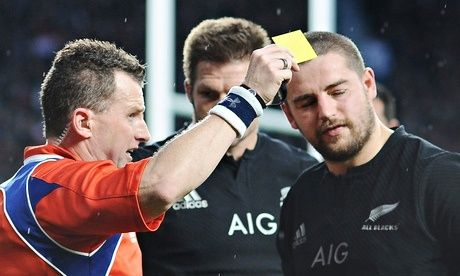 Dan Coles yellow carded All Blacks vs England 18November 2014