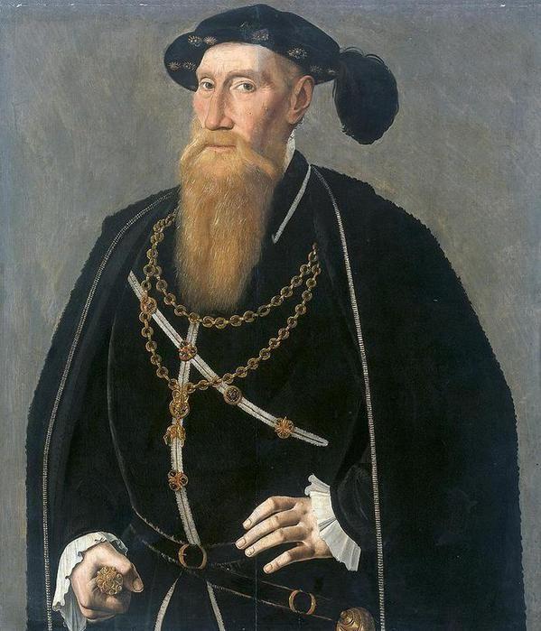 Ян ван Скорел (Jan van Scorel) (1495 - 1562) — Attributed to Jan van Scorel Portrait of Reinoud III van Brederode (1492-1556).(ок.1545, Rijksmuseum, Amsterdam)