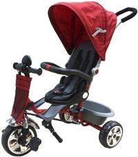 Велосипед детский 3-х колесный, красный Поворачивающееся на 360 градусов мягкое сидение. Ремень безопасности. Регулируемый, съемный козырек. Съемная ручка управления движением велосипеда. Пластмассовая корзина для игрушек. Спинка сиденья с регулируемым наклоном и высотой. Материал колес: полиуретан. #товары #дети #акция #распродажа #скидки #велосипеды #самокаты #скутер