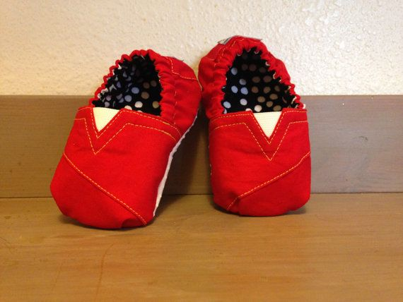Custom Wildcat Red Baby TOMs with Baby's Name on Etsy, $20.00